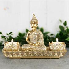 Gold Thai Buddha Tealight holder, sitting Buddha, tea light, resin, ornament