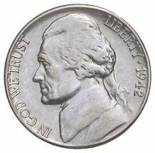 5c BU Unc MS 1942-S Jefferson WARTIME Silver Nickel *671
