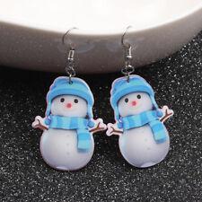 Christmas Snowman Drop Dangle Earrings Ear Stud Earrings Gift Women Jewelry