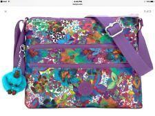 Kipling Alvar HB6141 Messenger Purse Bag Aloha Grove purple NWT
