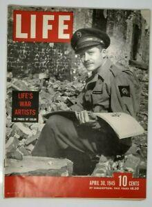Life Magazine April 30 1945 WW2  War Artists Truman San Francisco Coke Ad
