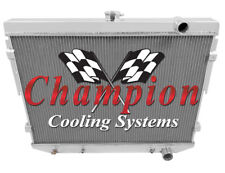 4 Row Ace Champion Radiator for 1973 74 75 76 77 1978 Dodge Charger V8 Engine