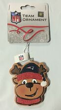 New England Patriots Gingerbread REINDEER Christmas Tree Holiday Ornament