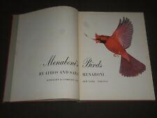 1950 MENABONI'S BIRDS BY ATHOS & SARA MENABONI HARDCOVER BOOK - I 1148