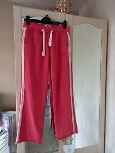 Ladies SUPERDRY VINTAGE  Coral Jogging Bottoms Size Med /Long Immaculate