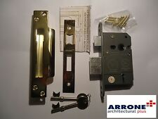 "ARRONE 64mm 2.5"" 5 LEVER SASHLOCK BS BRITISH STANDARD BRASS KEYED ALIKE - NEW"