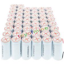 50x sub C subc Con Tab 6000mAh 1.2V Ni-MH ricaricabili bianca di alto potere