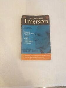 The Portable Emerson Edited by Mark Van Doren Paperback Rare 1956 Ed - 672 pages