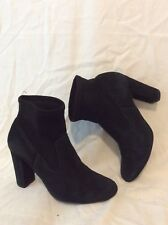 Office London Black Ankle Suede Boots Size 37