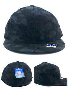 NFL New Reebok All Teams All Over Pro Bowl Black Gray Collage Era Fitted Hat Cap