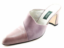 Lavender BALLY Women's Suede & Leather Mules Heels Shoes 7.5 M Worn 1x
