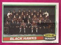RARE1980-81 TOPPS CHICAGO HAWKS  TEAM PHOTO POSTER (INV#4608)
