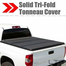 Lock Hard Solid Tri-Fold Tonneau Cover FOR 07-13 Chevy Silverado 6.5ft Short Bed