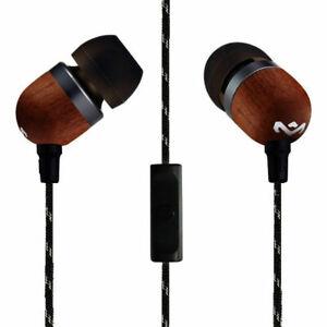 House Of Marley EM-JE041-SB Smile Jamaica Wood In-Ear Headset Earphones w/Mic