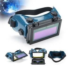 AUTO DARKENING LCD WELDING GOGGLES GLASSES MASK EYE SAFETY GRINDING SOLAR POWER