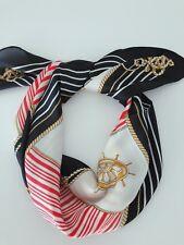 Women Anchor Sailor Chain Marine Silky Look Scarf Hair Wrap headband Bandana