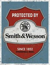 Smith & Wesson Security Metal Tin Sign Retro Vintage Decor Safe Man Cave Garage