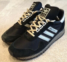 MENS ADIDAS NEW YORK BLACK & GREY TRAINERS UK SIZE 8.5 DEADSTOCK