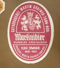 1950s GERMAN BEER LABEL BIERETIKETTEN, GUTSBRAUEREI GRAINER TANN GERMANY, MARTIN