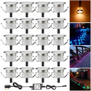 1-50pcs 31mm RGBW Colour Changing LED Deck Lights Kitchen/Garden Walkway Lights