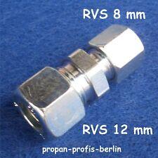Schneidringverschraubung GR 12 mm x 8 mm Ermeto für Gasrohr (Rohrverschraubung)