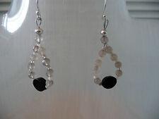 Black & Grey Agate drop Earrings