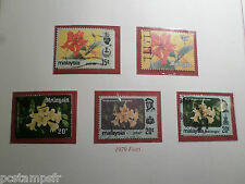 MALAYSIA, LOT timbres THEMES FLEURS, FLOWERS, oblitérés, VF STAMPS