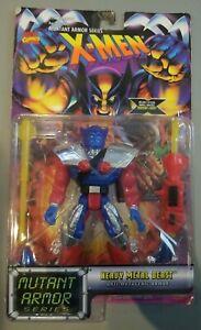 "1996 Toy Biz Marvel X-Men Mutant Armor HEAVY METAL BEAST 5"" Action Figure MOC"