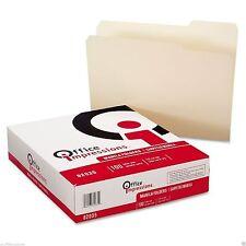 200 Office Impressions MANILA FILE FOLDERS Top-Tab1/3 Cut Letter Size Box Lot ##