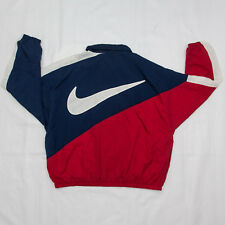 90s Nike Big swoosh Windbreaker raglan Sleeve Nylon Jacket Size Xl vintage retro