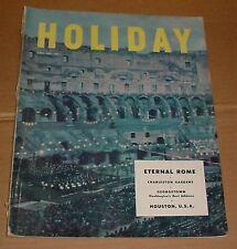 4/1952 Holiday Magazine Rome Georgetown Groucho Houston  Palaces On Rails