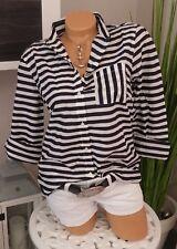 Tom Tailor Langarm Bluse Streifen marine weiß Gr. 38 Damenbluse
