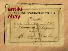 Seltene Kurskarte von 1961/62 - Ski- und Sportkurse Steibis - C. Cranz Borchers