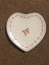 Sweet Love Heart Ceramic soap dish NEW Shabby Chic Bathroom Holder Trinket Coin