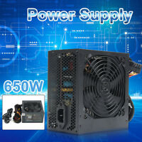 650W Watt Power Supply PSU PFC Silent Fan ATX 24-PIN PC For Computer Gaming