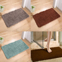 "31x20"" Soft Shaggy Bath Mat Non-slip Bathroom Rug Microfiber Floor Mats Rugs"