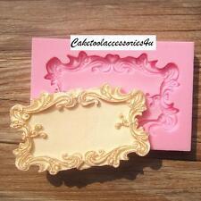 Mariage miroir cadre silicone fondant moule décoration gâteau sucre pâtisserie moule