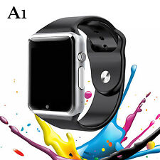 Black A1 Smart Bluetooth Watch Sports For Android IOS Samsung SIM SD Camera US