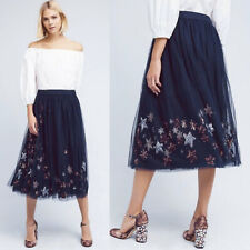 RARE $168 ANTHROPOLOGIE Moulinette Soeurs Lumiere Moon Stars Midi Skirt XS S