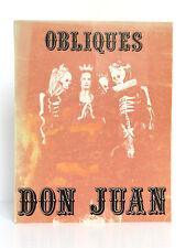 Don Juan OBLIQUES Numéro Spécial 2 volumes en 1. Éditions Borderie 1981