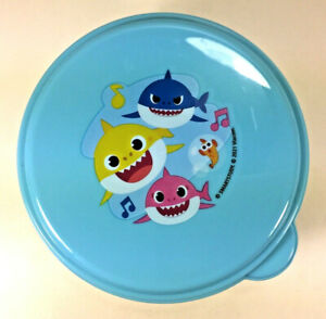 NEW Zak! BABY SHARK Lunch Snack Chip Fruit Plastic Container Daycare Blue Yellow