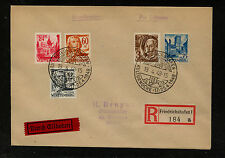 Germany 8N8, 8N10 + on registered cover  1948      KL0405