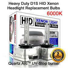 6000K Heavy Duty D1S D1R OEM HID Xenon Headlight Replacement Bulbs (Pack of 2)