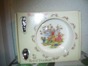 Royal Doulton Bunnykins Nursery Set Baby Christening Dish & Spoon - New In Box