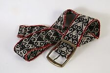 Women's Hand Embroidered Peruvian Wool Belt M BOHO HIPPIE FESTIVAL NWT 103