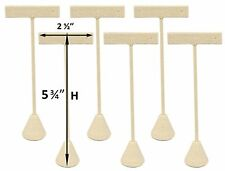 "6-Pack Linen Earring T Stand Display T Shape Showroom and Tradeshow 5.75"" Tall"
