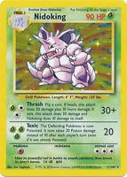 Nidoking Holo Pokemon Card Base Set Unlimited English 11/102