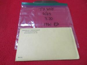1961 Philadelphia Proof  Silver Mint Set  In Envelope of issue.        #MF-T2808