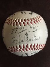 1986 NY Mets World Series Team Signed Ball Printed Fascimile Baseball Promo Shea