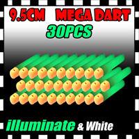 30PCS illuminate Refill Foam Bullet Darts for Nerf Elite Mega Centurion Gun U1